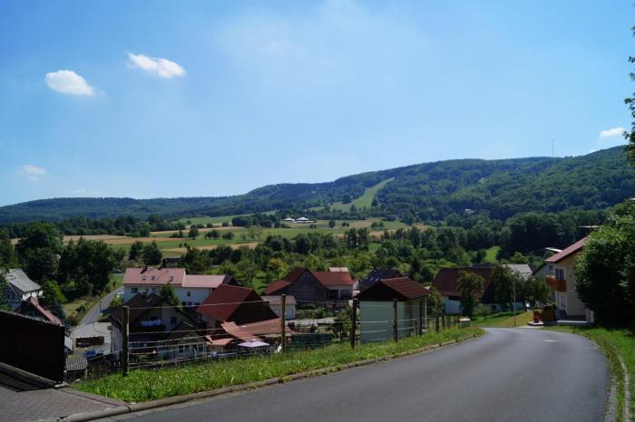 Blick vom Bauplatz über Haselbach