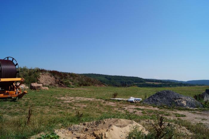 Blick vom Bauplatz aus nach Norden
