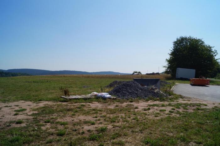 Blick vom Bauplatz aus nach Südosten