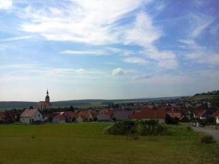 Blick vom Bauplatz nach Süden über Oberelsbach