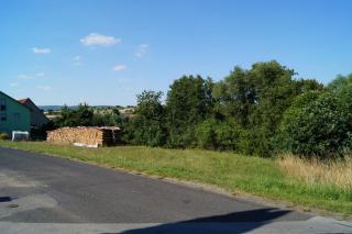 Blick auf den Bauplatz in nördliche Richtung